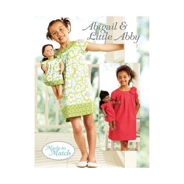 kjole og hårdbånd til piger og deres dukke