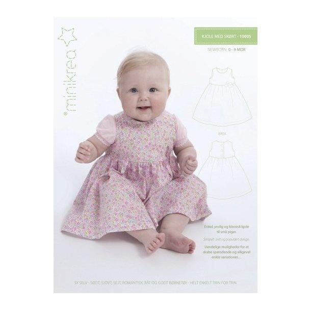 Kjole med skørt - Newborn 0 - 9 mdr.